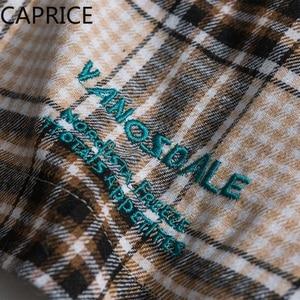 Image 5 - Hip Hop nakış ekose Patchwork erkek gömlek 2019 moda Harajuku Streetwear Casual pamuk boy erkek uzun kollu dış giyim