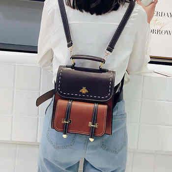 Women Backpack For School Teenagers Girls School Large Capacity Leather Backpack Luxury Black Mochila Hombre Mochilas Mujer 2019