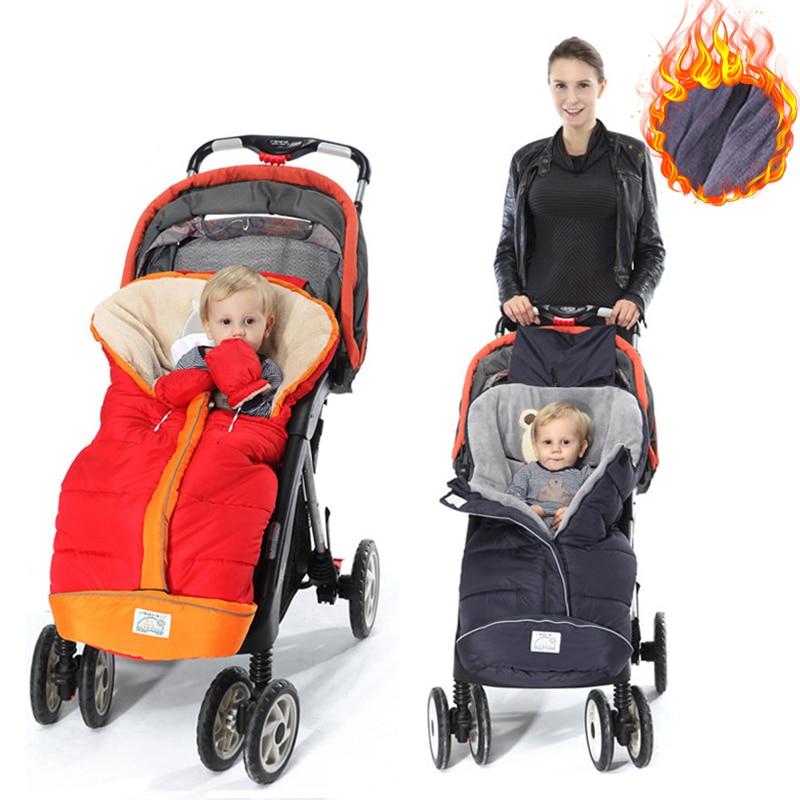 Winter Baby Stroller Sleeping Bags Warm Envelope For Newborn Infant Windproof Baby Cocoon Stroller Sleepsacks Footmuff Foot