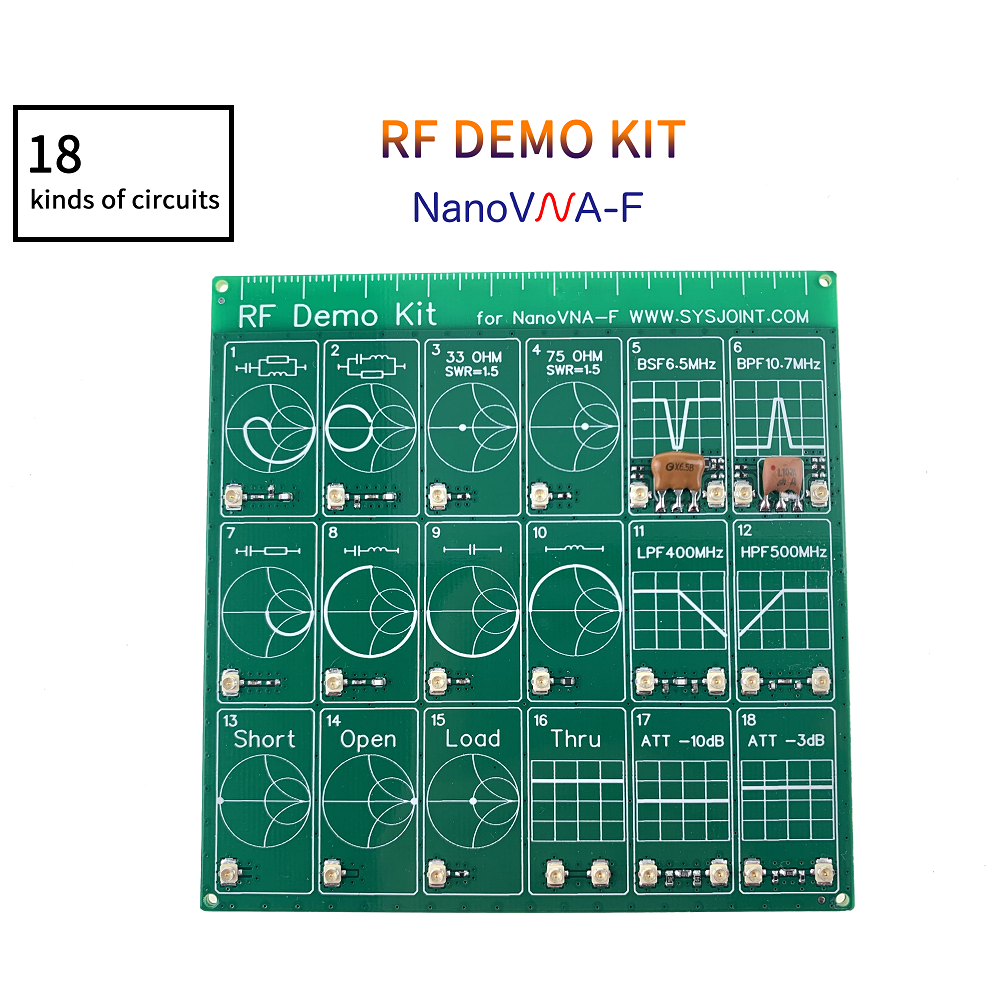 RF Demo Kit NanoVNA Nanonva-f RF VNA Test Board Filter Attenuator