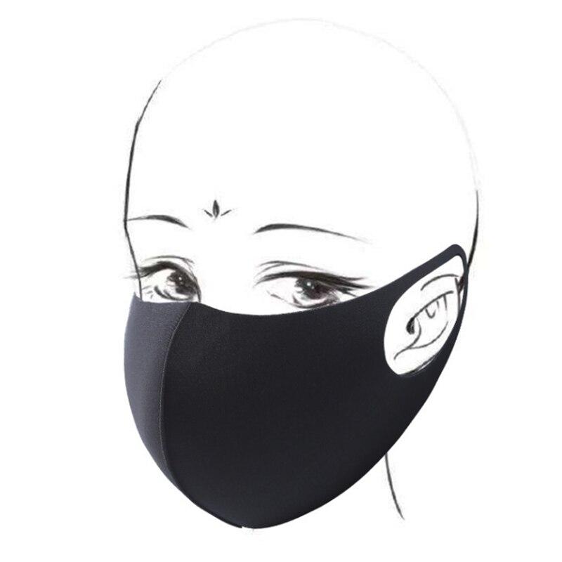 10pcs Rosto Máscara Preta Máscara Boca Máscara Reutilizável Lavável Mascarillas Protetor Facial Masque Máscara Facial 4