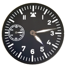 Man's Watch Part 38.5mm Dial And Hour Hands Fit St36 ETA6497 Manual Movement