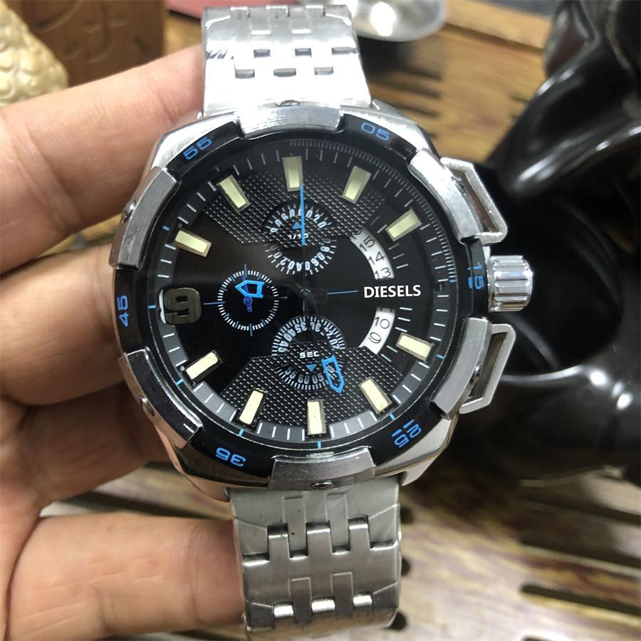 2019 High Quality DIESELS Brand quartz wrist Watch for Men Multifunction style stainless steel Calendar 12