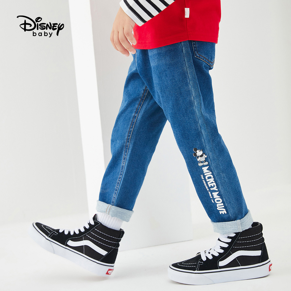 Original Disney Boy Jeans Spring And Autumn New Handsome Children's Wear Pants Fashion Casual Sports Pants DB031ME20