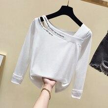 Long Sleeve T-shirt  Womens New Slim Cotton Sweatshirt Girls Ladies Short Shirts Tops Basic Tee Summer Autumn