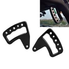 2PCS Black Aluminum Grab Bar Front Handle for Jeep Wrangler JK JKU 2007-2017 Unlimited Rubicon Sahara Sport 2/4 door