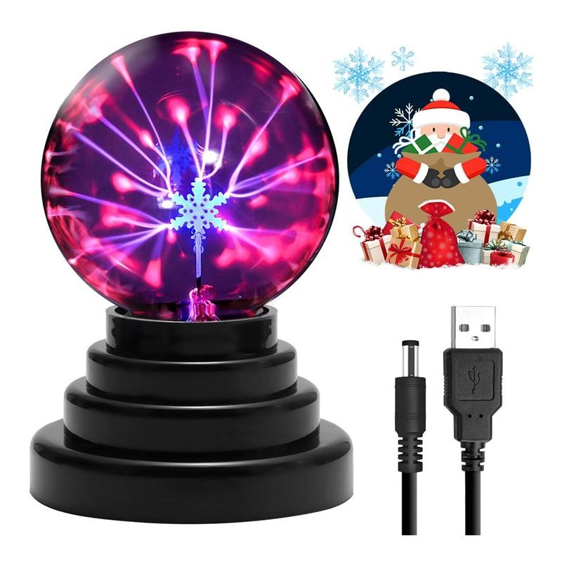 Magic Plasma Ball Touch Sensitive Lamp Light Nebula Sphere Christmas Party Table Lamp Kids Playing Lights New Year Lights