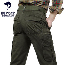 2020 Brand Men Cargo Pants Army Green Multi Pockets Combat Casual Cotton Loose Straight Trousers Military Tactical pants(China)