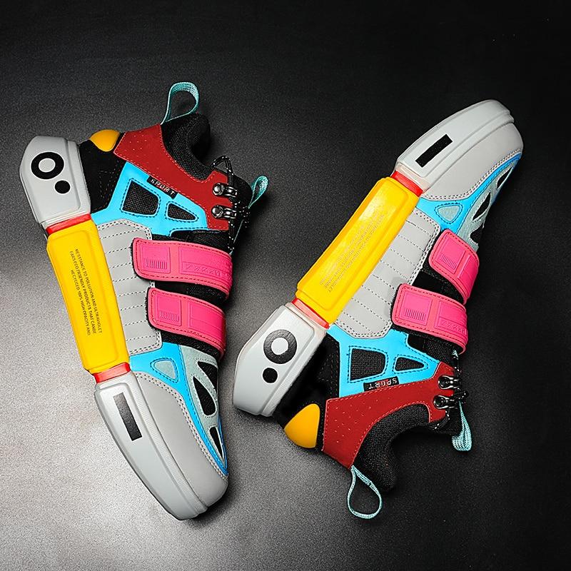 Unisex Autumn Winter Fashion Men Sneakers High Top Sneaker Shoes Lightweight Walking Male Sneakers Tenis Feminino Footwear