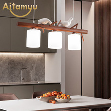 Birds deco LED Pendant Lights For Dining Room Modern Indoor Kitchen Adjustable Bar Hanglamp