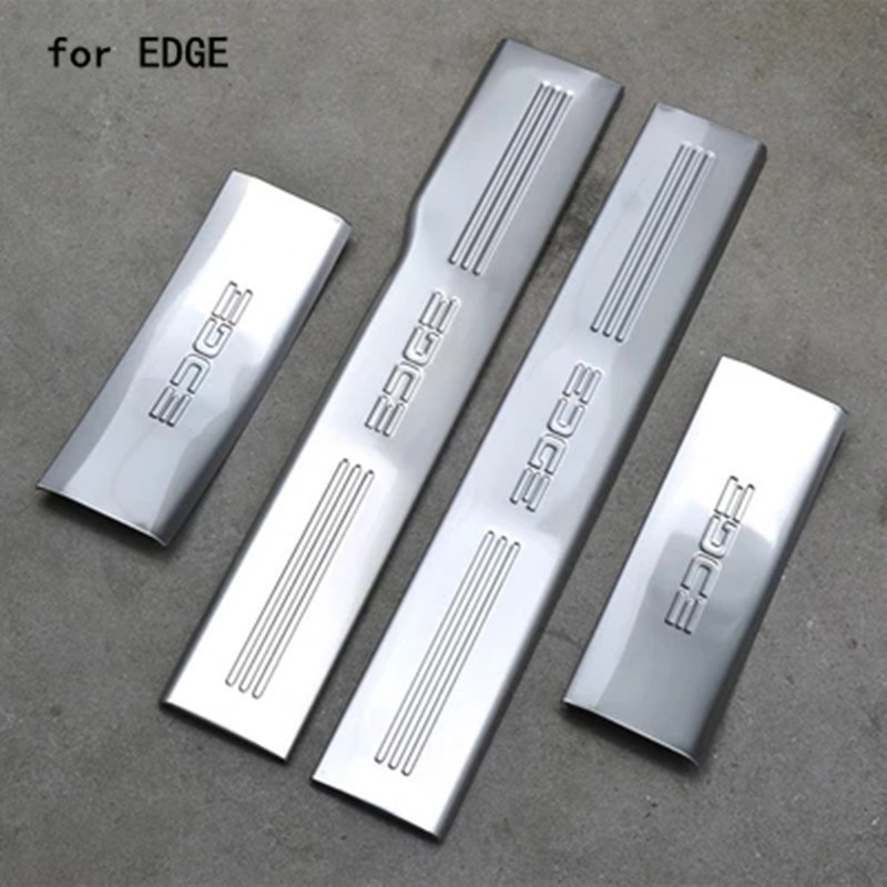 Stainless Steel car Internal Scuff Plate/Door Sill Door Sill pedal bienvenidos for Ford EDGE 2009 2014 Car styling Chromium Styling     - title=