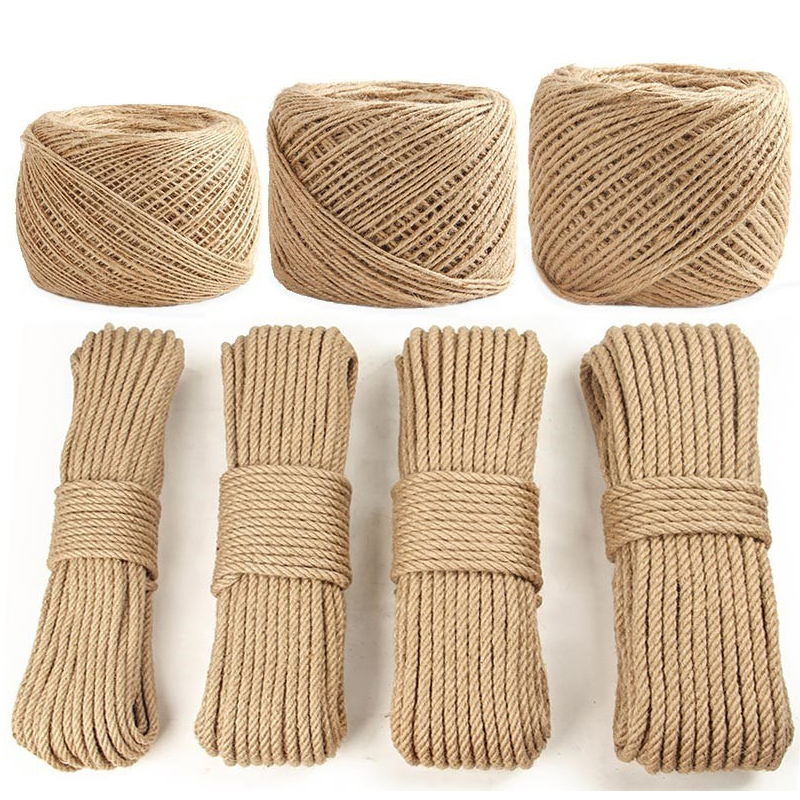 Sisal Rope Cat Tree DIY Scratching Post Toy Cat Climbing Frame Replacement Rope Desk Legs Binding Rope for Cat Sharpen Claw(China)