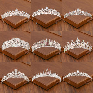 Hair-Crown Accessories Bridal-Tiara Wedding Silver-Color Women for And