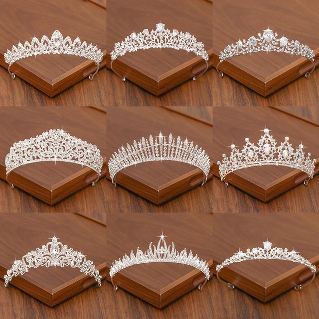 Bridal Tiara Hair Crown Wedding Hair Accessories For Women Silver Color Crown For Bridal Crowns And Tiara Women Accessories