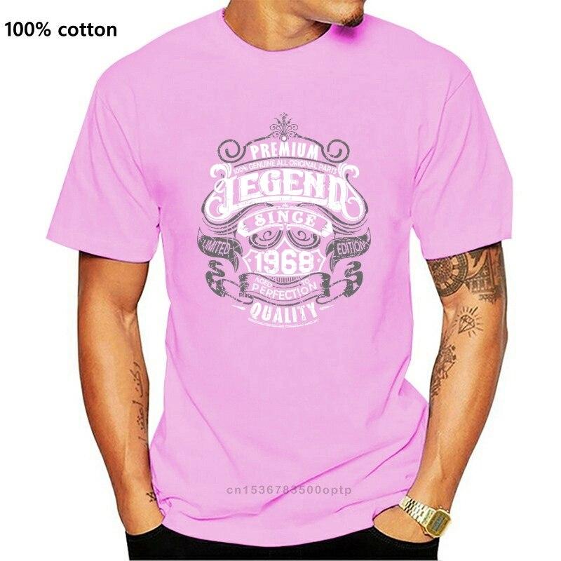 Prémio Lenda Desde 1968 T-Shirt Dos Homens Engraçados do Aniversário 51st 51 Ano Velho Top