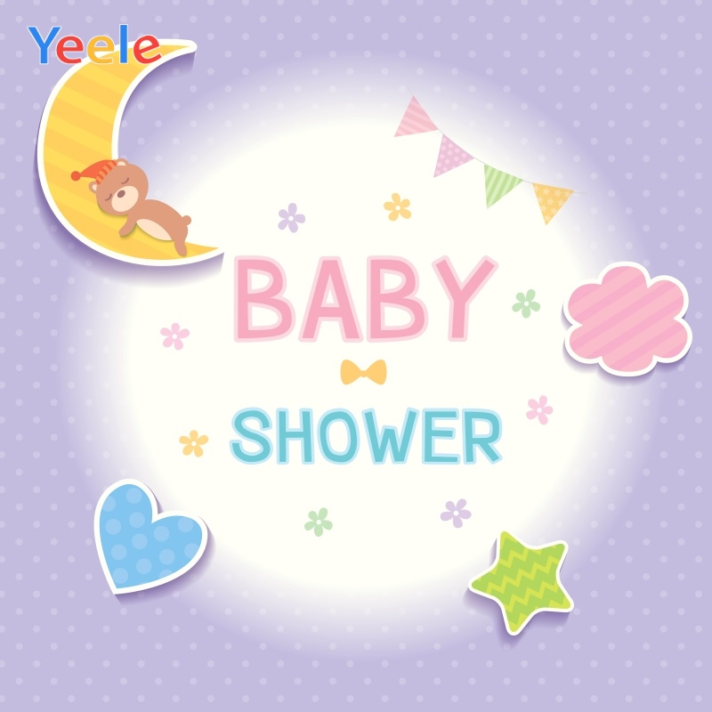 Yeele Baby Shower Photocall Moon Star Ins New Birth Photography Backdrops Personalized Photographic Background For Photo Studio in Background from Consumer Electronics
