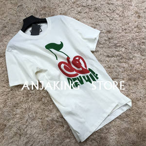 Graphic Tops T-Shirts Cherry High-Quality Short-Sleeved Casual Cotton Loose-Version