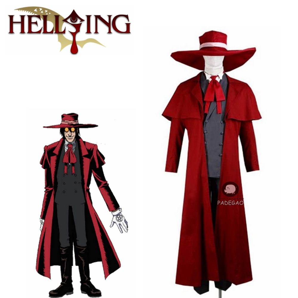 Vampire Hunter Cosplay Hellsing Alucard cosplay Costumes Cool Man Suit and High Cotton Content Long Coat Best Outfits image