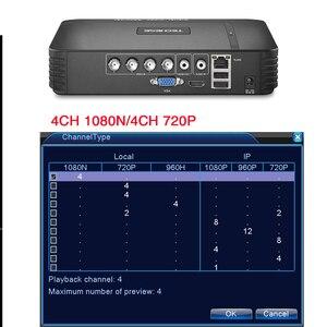 Image 3 - Techege 4 kanal 8 kanal AHD DVR AHD M 720P/960H CCTV DVR 4CH 8CH Mini hibrid HDMI DVR destek IP Analog kamera rusya stok