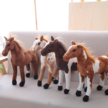 30-60cm Simulation Horse Plush Toys Cute Staffed Animal Zebra Doll Soft Realistic Toy Kids Birthday Gift Home Decoration