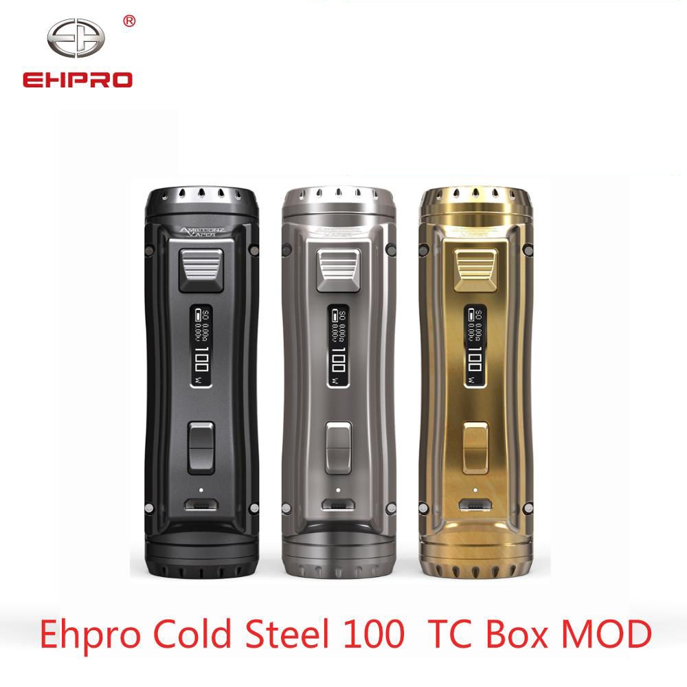 Newest Ehpro Cold Steel 100 120W TC Box MOD With 0.0018S Ultrafast Firing Speed & Online Software Update Vs OBS /Drag 2