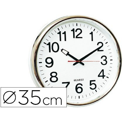 WATCH Q-CONNECT WALL PLASTIC ROUND OFFICE 34 CM MARCO WHITE