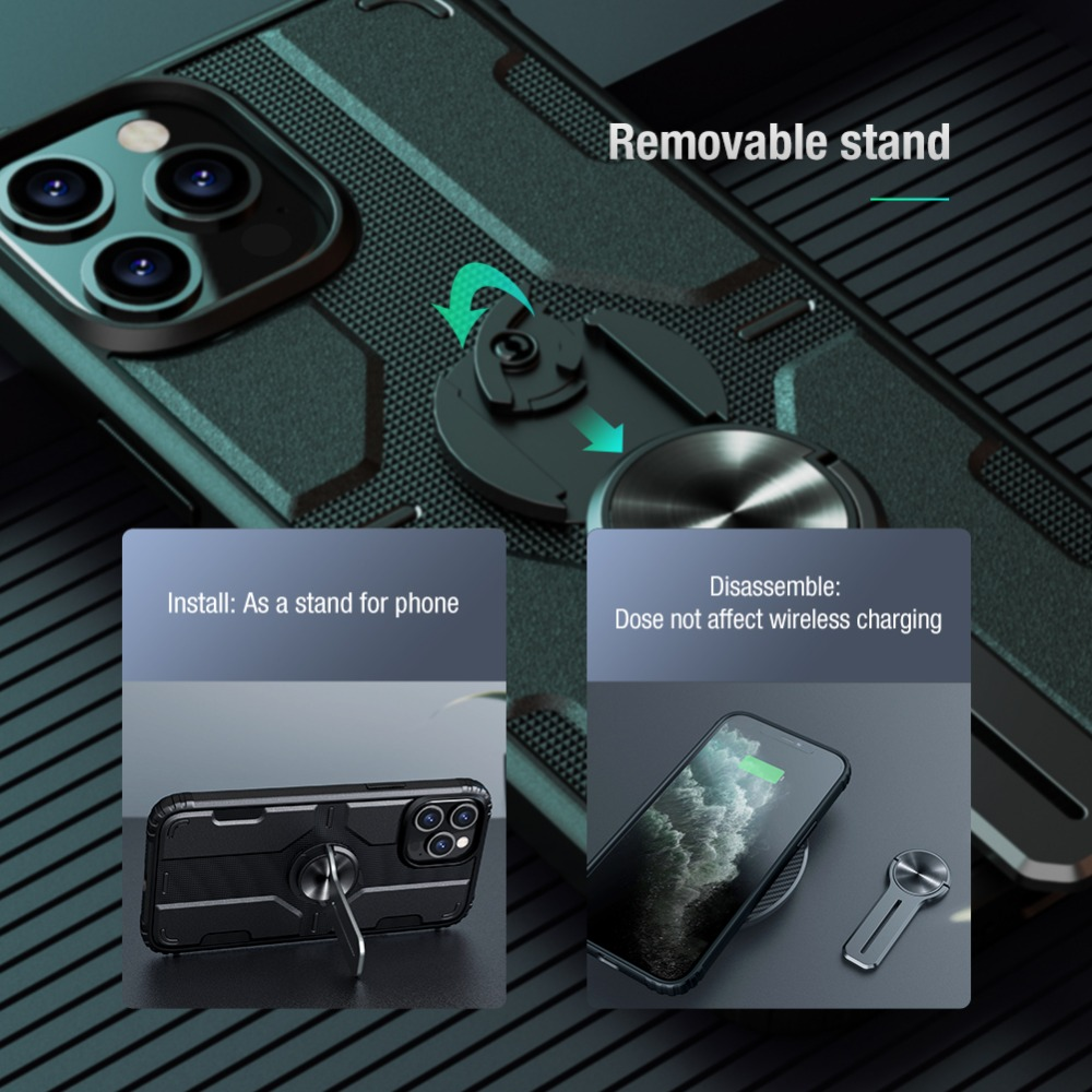 Removable Backrest Alloy Stand Case For iPhone 12 Pro Max