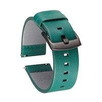 Echtes Leder Uhrenarmbänder 22mm für Samsung Galaxy Getriebe S3 Huami amazfit Huawei GT 2E Ehre GS Pro Uhr Strap leder Armband