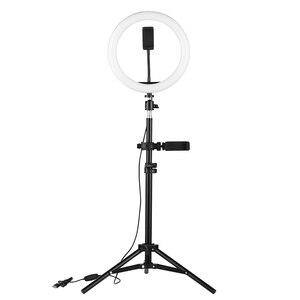 Image 4 - 10 Inch Desktop LED Video Ring Light Lamp 3 Modes USB Charge For YouTube Live Video Recording Network Broadcast Selfie Makeup