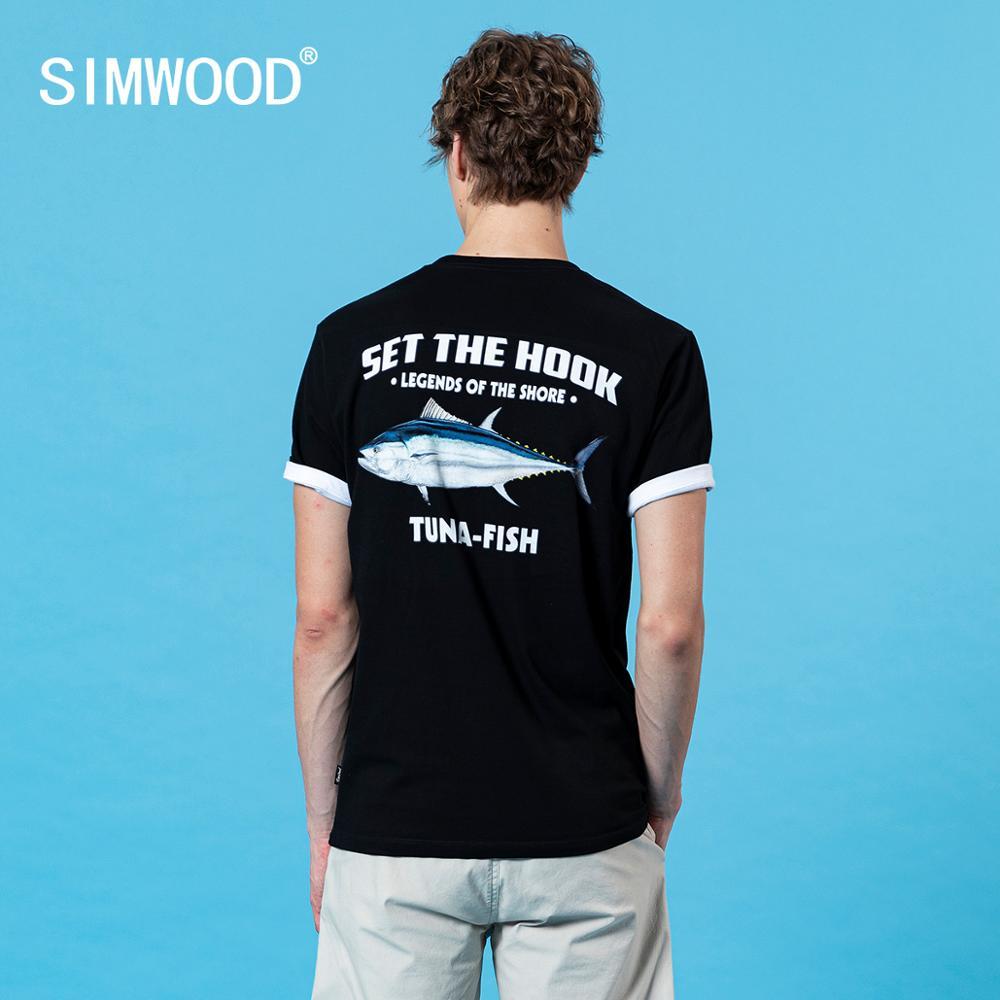 Né À Poissons Hommes à la ligne T-Shirt