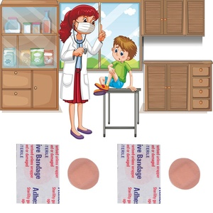 Image 4 - 20PCs Waterproof Breathable Round Band Aid Adhesive Bandages First aid kit For Children Kids Diameter about 2.2cm For Camping