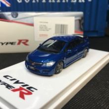 Diecast-Model FD2 Honda Civic Car-Collection-Limited Type R 1/64 Vivid Pearl Hobby Blue