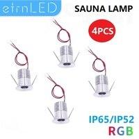 EtrnLED 4 pezzi Mini lampada a Led IP65 RGB faretto a soffitto impermeabile spot armadio da cucina terrazza bagno Sauna luce DC12V 3W 4W