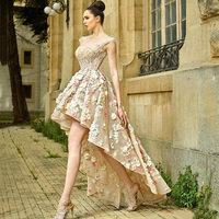 Eightree Gorgeous Evening Dress High Low Backless Prom Dresses 3D Flower Short Evening Party Gown Special Occasion Dress