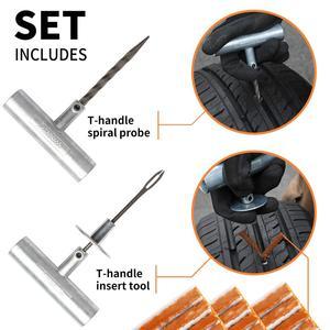 Image 3 - Kit de reparação de pneus van do carro da motocicleta ferramentas de reparo de pneus de emergência resistente sem câmara de ar pneu puncture repair kit