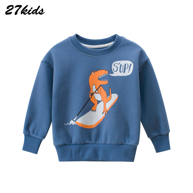 Animal pattern Autumn Winter Kids Sweatshirts Clothes For Toddler Children Cartoon Boys Dinosaur Shirt Tops Outfits Clothes 4