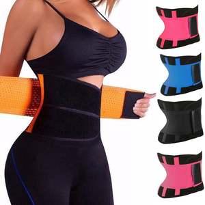 Waist-Belt Trainer Body-Shaper Women Corset Sweat Zipper Slimming Tummy Sport