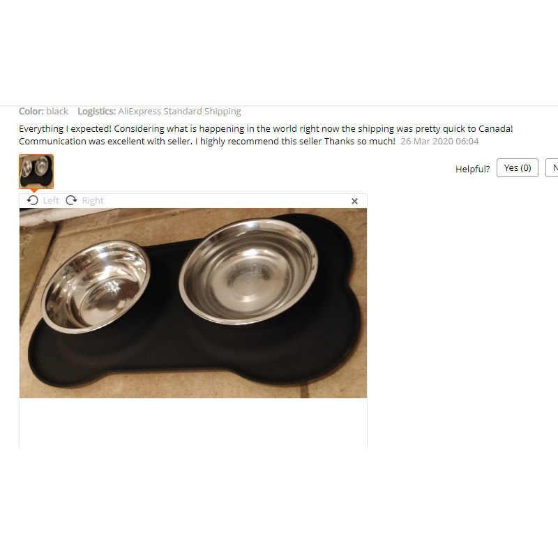 Cão de silicone tigelas de aço inoxidável água e alimentador de alimentos com não derramamento skid resistente esteira de silicone para animais de estimação filhote de cachorro pequeno edi