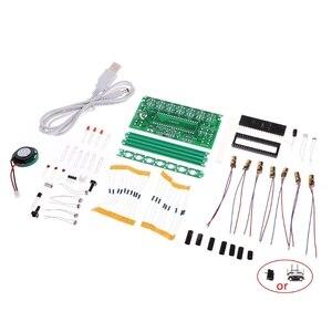 Image 5 - 51 SCM Laser harpe orgue électronique Piano la boîte à musique Puzzle technologie Kit de bricolage