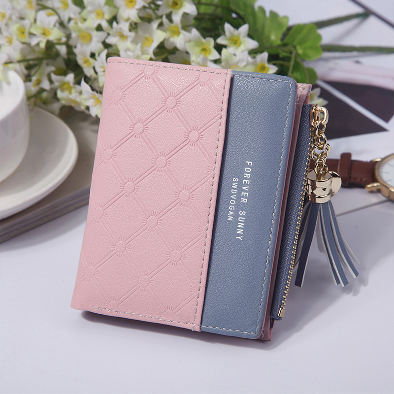 Whales Pink Flowers Waves Stripes Womens RFID Blocking Zip Around Wallet Genuine Leather Clutch Long Card Holder Organizer Wallets Large Travel Purse