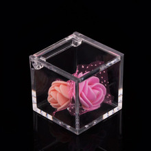 6/12pcs Plastic Transparent Cube Wedding Favor Candy Box Packaging Storage Case Baby Shower Wedding Birthday Party Guest Gifts