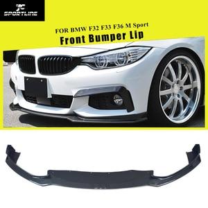 Para BMW Série 4 F32 F33 F36 M Sport 2014 - 2018 Front Bumper Lip Spoiler Divisores De Fibra De Carbono/FRP