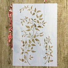 A4 29 * 21cm Tree vine Leaves DIY Stencils Wall Painting Scrapbook Coloring Embossing Album Decorative Paper Card Template