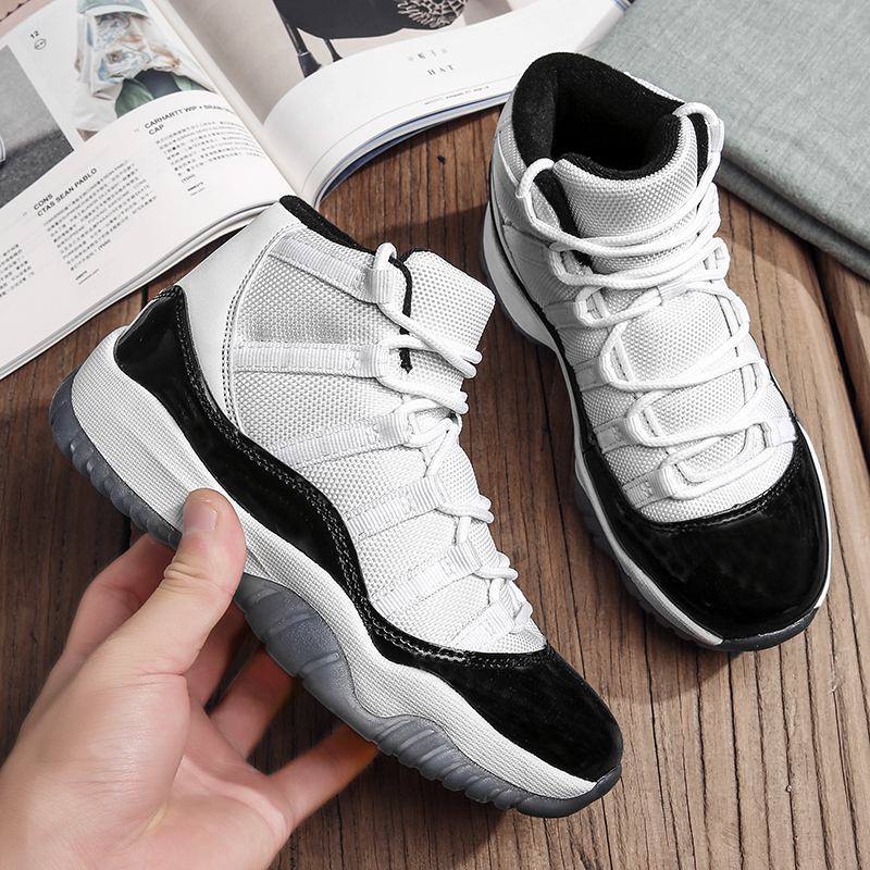 Basketball-Shoes Kids Sneakers Jordan Sports Boys Children Non-Slip Footwear Rubber High-Top title=