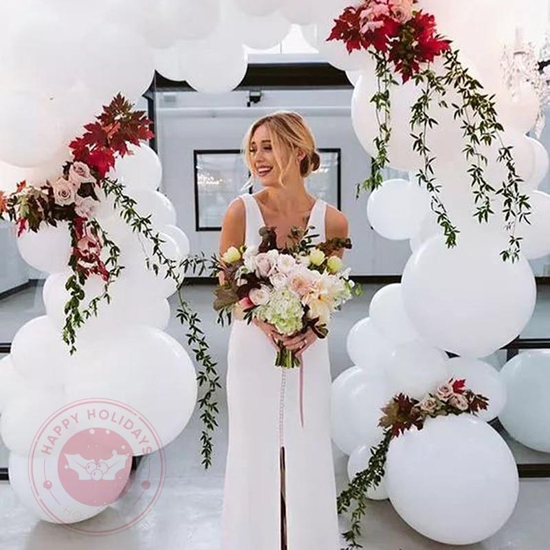36 polegada grande redondo branco balão decoração de casamento festa de aniversário balony dia dos namorados chá de fraldas decoração de ano novo globos