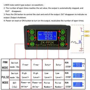 Image 2 - ZK PP2K PWM DC سرعة المحرك تحكم التردد واجب دورة منظم قابل للتعديل التبديل LED باهتة الرقمية نبض سائق 2 طرق