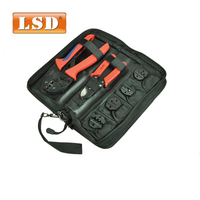 S K30J multi electrical han tool kit conbined with crimping plier,cable cutter and four crimping dies terminal crimping tool set