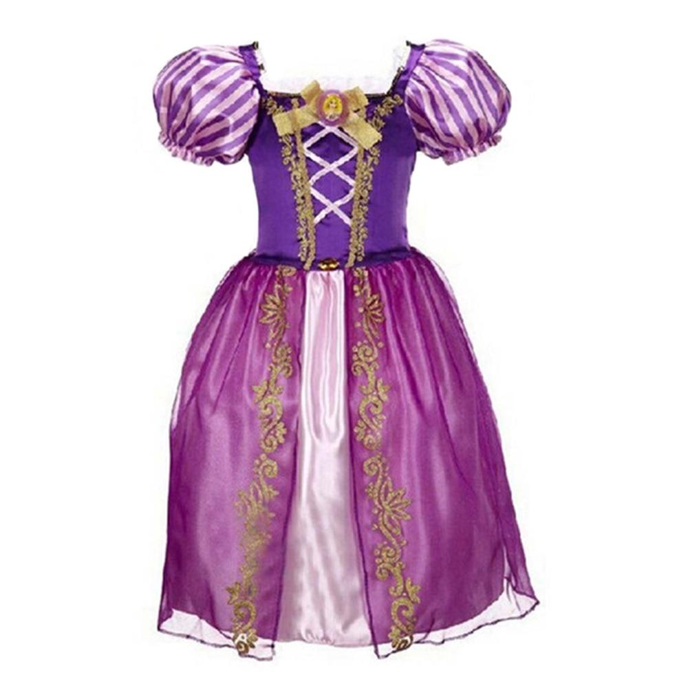 Image 4 - 2019 Girls Dress Cinderella Costume Kids Rapunzel Belle Sofia Sleeping Beauty Princess Dress Children Halloween Party Dress Upcinderella costumecostume for kidsdress cinderella -
