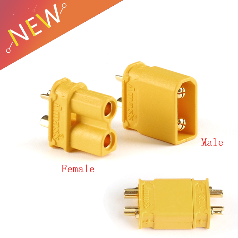 10pcs XT30U Male Female Bullet Connector Plug The Upgrade XT30 For RC FPV Lipo Battery RC Quadcopter (5 Pair)