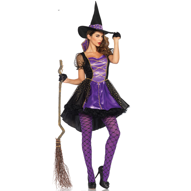 Halloween Adult Costume Character Play Witch Christmas for Women  Costumes